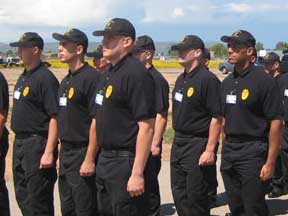 Recruits at NM Police Academy