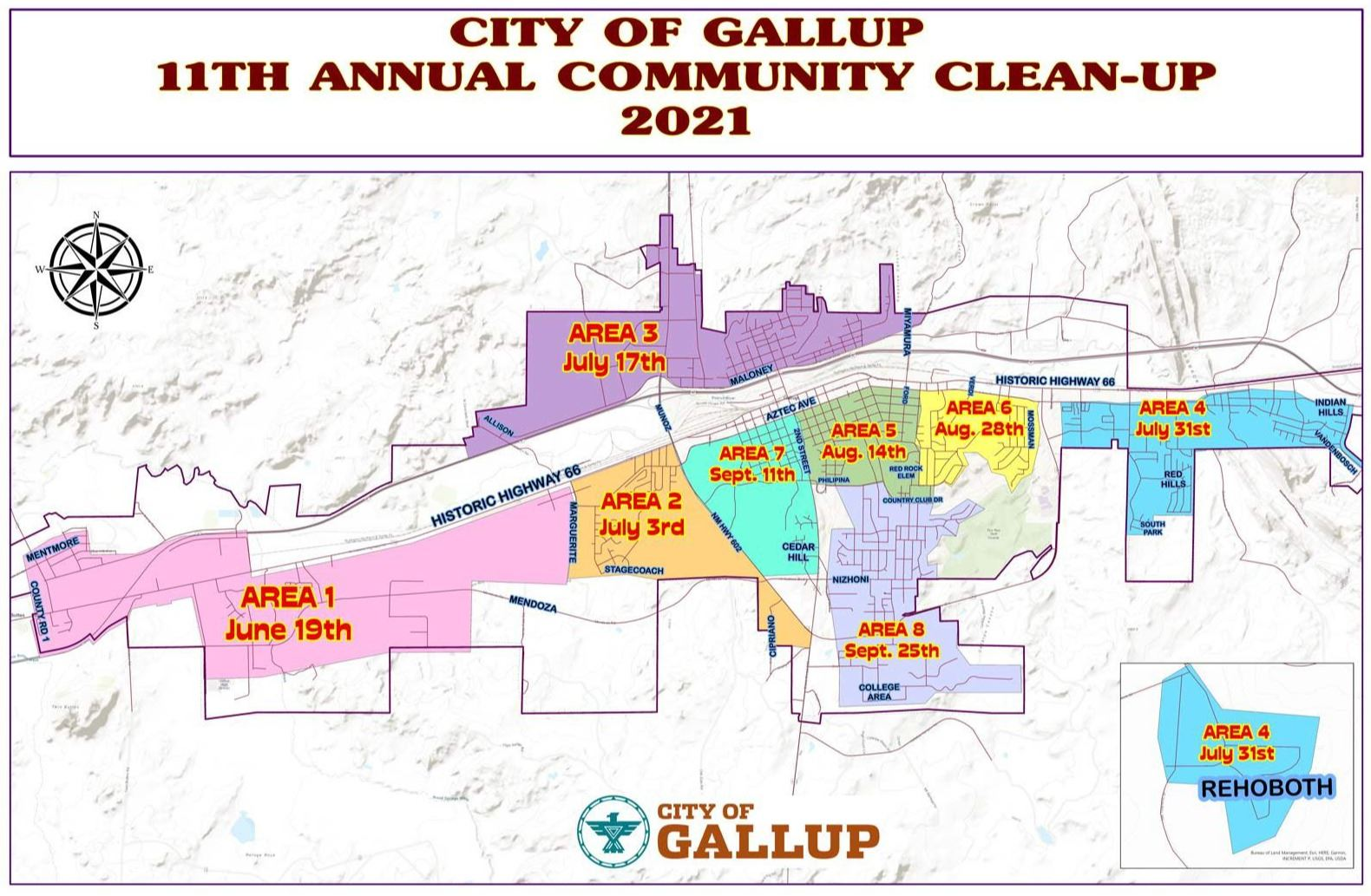 2021 SW Community Cleanup Map